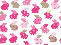 传染媒介无缝的逗人喜爱的兔子样式 免版税库存照片