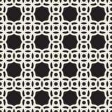 传染媒介无缝的黑白圈子弧正方形样式 图库摄影