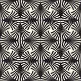 传染媒介无缝的黑白弧排行网格图形 免版税库存图片