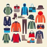 传染媒介时尚衣裳和accessorie例证 库存照片