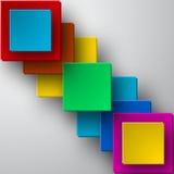 传染媒介明亮的方形的背景 免版税库存照片