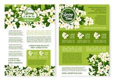 传染媒介春天海报的花设计 库存例证
