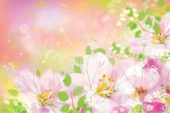 传染媒介春天花卉背景 库存例证