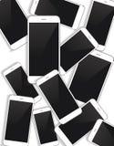 传染媒介智能手机背景 免版税库存图片