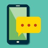 传染媒介智能手机闲谈象 免版税库存图片