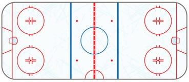 传染媒介有冰鞋标记的冰球场 免版税图库摄影