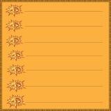 传染媒介有橙色背景和太阳 免版税图库摄影