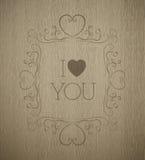 传染媒介木板条纹理情人节组合图案 免版税库存图片