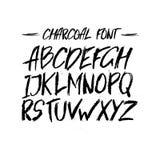传染媒介木炭时髦逗人喜爱的字体 免版税库存照片