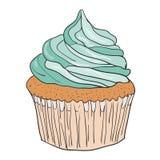 传染媒介杯形蛋糕 库存例证