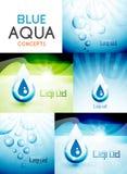 传染媒介水构思设计汇集 库存例证