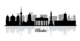 传染媒介柏林地平线剪影 向量例证