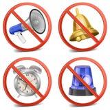 传染媒介标志保持安静 免版税图库摄影