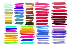 传染媒介标志冲程,斑点明亮的颜色 向量例证