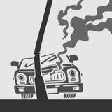 传染媒介标志车祸 免版税图库摄影
