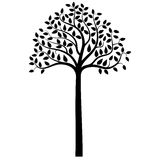 传染媒介树剪影 库存照片