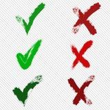 传染媒介校验标志 库存例证
