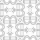 传染媒介样式-几何无缝的简单的现代纹理 免版税库存图片