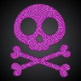 传染媒介桃红色衣服饰物之小金属片头骨 海盗旗 10 eps 免版税图库摄影