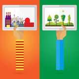 传染媒介画框工厂自然集合胳膊和手 免版税图库摄影