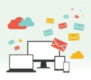 传染媒介概念电子邮件营销设计 免版税库存图片