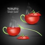传染媒介概念蕃茄茶壶 库存图片
