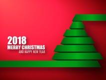 2018传染媒介模板 背景圣诞节计算机生成的愉快的图象快活的新的向量年 库存图片