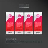 传染媒介横幅氖桃红色 免版税图库摄影