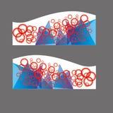 传染媒介横幅,倒栽跳水网横幅 免版税库存图片