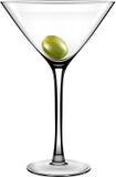 传染媒介橄榄色的马蒂尼鸡尾酒玻璃 免版税库存图片