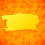 传染媒介橙色三角背景 免版税库存图片