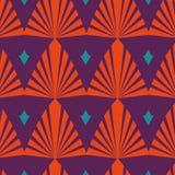 传染媒介橙色花纹花样设计 库存图片