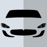 传染媒介正面图白色汽车 免版税库存图片