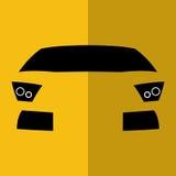 传染媒介正面图黄色汽车 库存图片