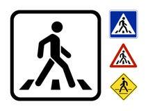 传染媒介步行者标志 库存照片