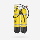 传染媒介氧气瓶潜水 免版税库存图片
