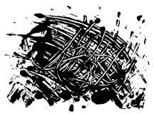 传染媒介黑油漆污点斑点  免版税库存照片