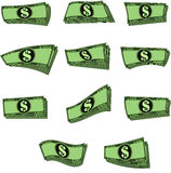 传染媒介注意金钱用不同的形式 库存照片