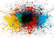 传染媒介泼溅物颜色背景 抽象背景设计例证马赛克 库存照片