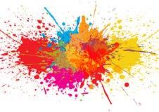 传染媒介泼溅物颜色背景 抽象背景设计例证马赛克 免版税库存照片