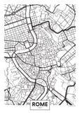 传染媒介海报地图城市罗马 库存图片