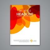 传染媒介海报飞行物模板 企业飞行物、海报和招贴的抽象五颜六色的背景 小册子tamplate 免版税库存图片