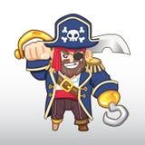 传染媒介海盗Illustration上尉 库存图片
