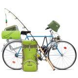 传染媒介渔自行车 向量例证