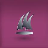 传染媒介游艇俱乐部商标 现代样式 库存例证