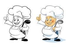 传染媒介漫画人物厨师 库存图片