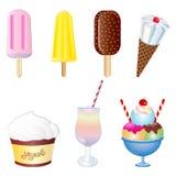 传染媒介点心和冰淇凌集合 免版税图库摄影
