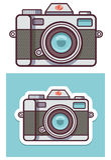 传染媒介照片照相机象 免版税图库摄影