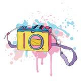 传染媒介照片照相机 库存照片