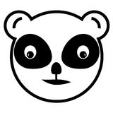 传染媒介熊猫象 免版税库存图片